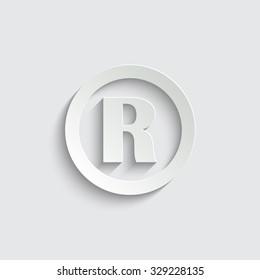Registered Trademark -  vector icon