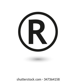 Registered Trademark - vector icon