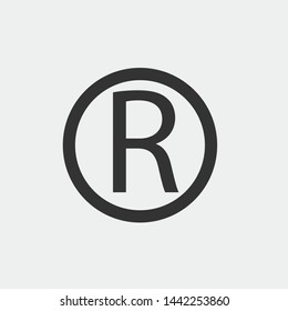 Registered trademark vector icon illustration sign