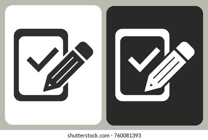Registration - black and white vector icons for graphic and web design.