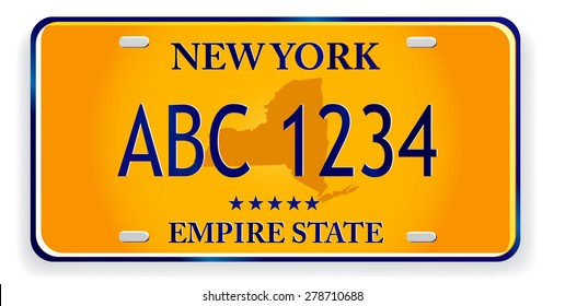registration plates of new York