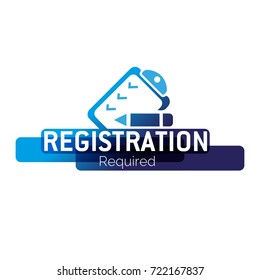 Registration required, form