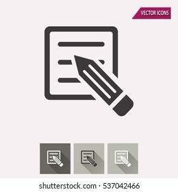 Registration vector icon. Illustration isolated for graphic and web design.