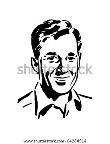 Regular Guy Retro Clipart Illustration Stock Vector Royalty Free