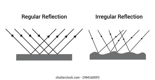 regular reflection and irregular reflection of light