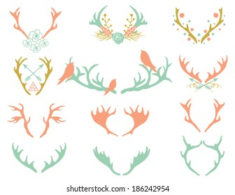 Reindeer Antlers Illustration in Vector