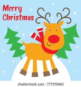 reindeer christmas card design