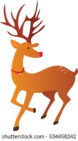 Reindeer christmas holiday vector illustration symbol or icon