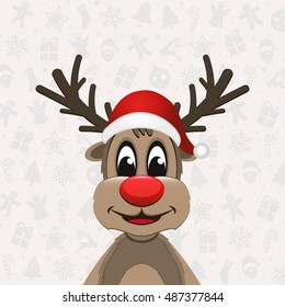 reindeer christmas ornament background