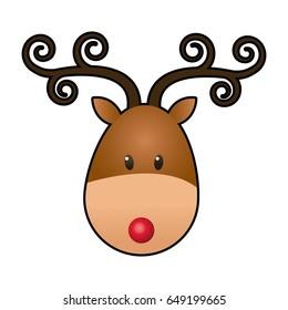 reindeer face animal cartoon image stock vector 666664225 shutterstock rh shutterstock com how to draw cartoon reindeer face reindeer facebook cartoon