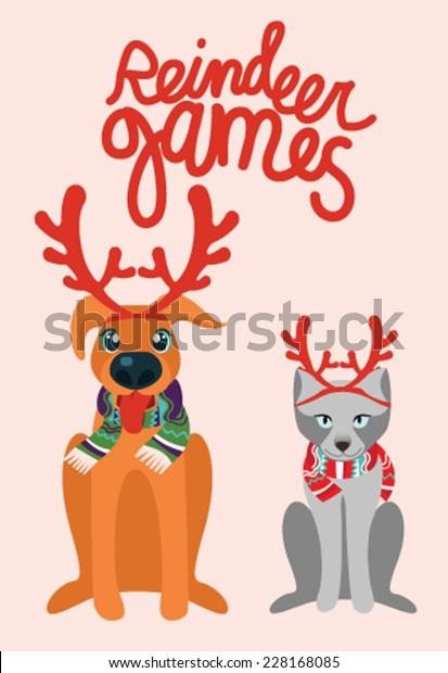 Reindeer Games Stock Vector Royalty Free 228168085