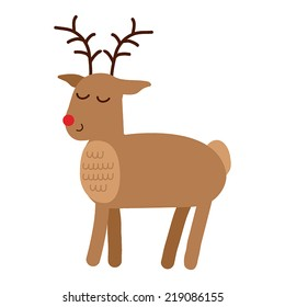 Reindeer. Holiday vector illustration