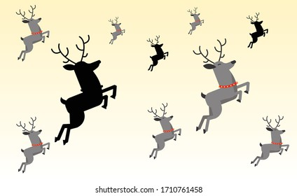reindeer pattern texture with beautiful background