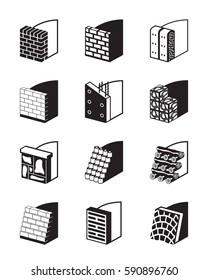 Reinforcing walls in construction - vector illustration