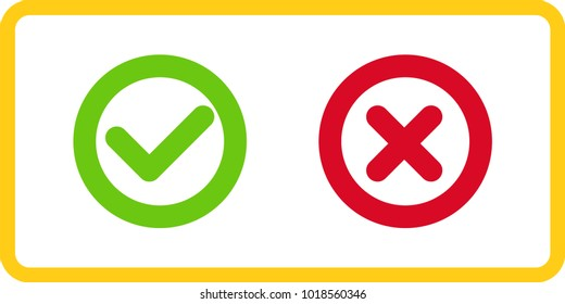 Reject and approve vector signs