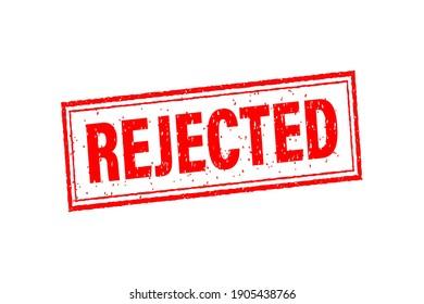 Rejected for banner design. Vintage vector illustration. Symbol, logo illustration.
