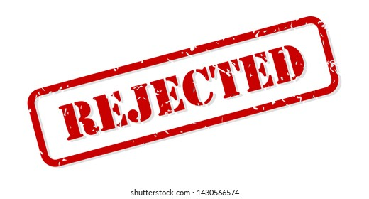 Rejected red rubber stamp vector isolated