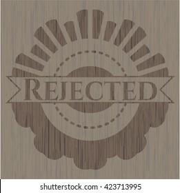 Rejected retro wood emblem