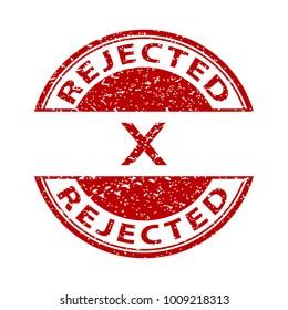 rejected. stamp. red round grunge vintage rejected sign