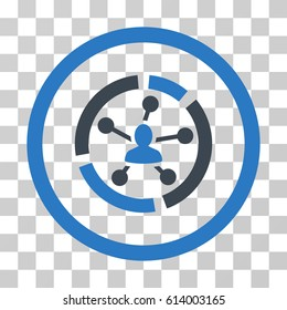 Relations Diagram icon. Vector illustration style is flat iconic bicolor symbol, smooth blue colors, transparent background. Designed for web and software interfaces.