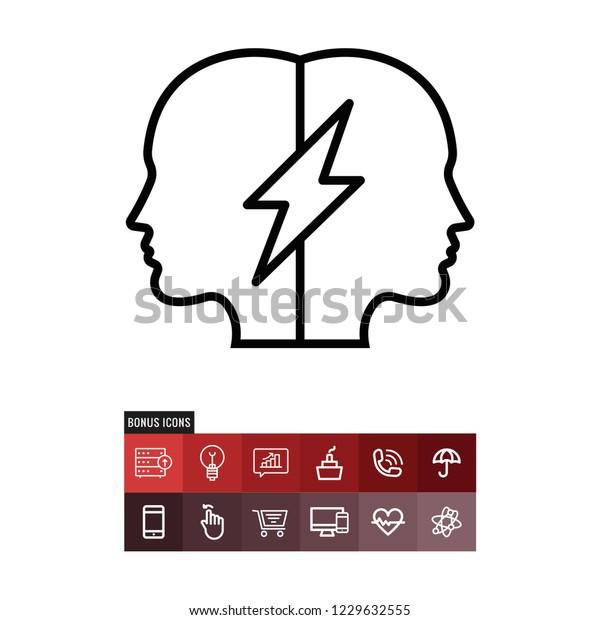 Relations vector icon