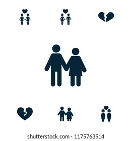 Couple silhouette stock vectors images vector art shutterstock relationship icon collection of 7 relationship filled icons such as broken heart couple freerunsca Choice Image