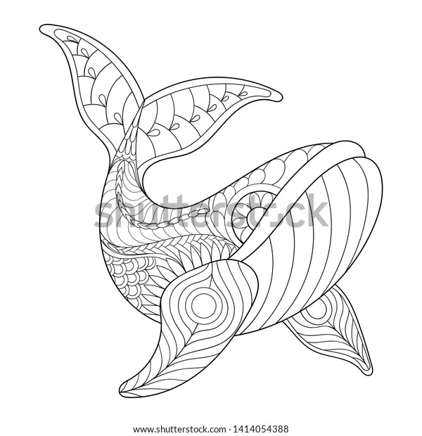 Relaxing Coloring Page Adult Therapy Hand Stock Vector (Royalty Free)  1414054388