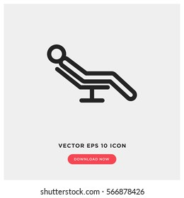 Relaxing vector icon, resting symbol. Modern, simple flat vector illustration for web site or mobile app