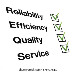 Reliability, Efficiency, Quality, Service