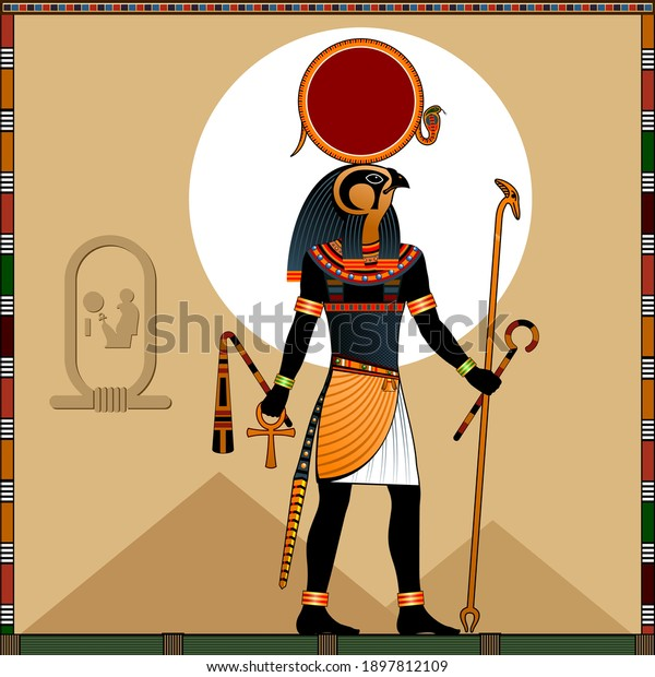 Religion of Ancient Egypt.  Ra is the ancient Egyptian God of the sun. Ra in the solar bark.