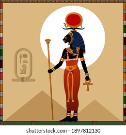Religion of Ancient Egypt.  Sekhmet is a ancient Egyptian goddess of scorching sun, war and healing.