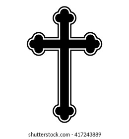 Religion Christian cross icon