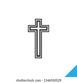Religion cross icon vector illustration on white background