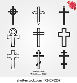 Religion cross icons