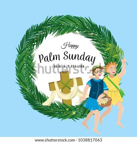 Religion holiday palm sunday before easter stock vector royalty religion holiday palm sunday before easter celebration of the entrance of jesus into jerusalem m4hsunfo