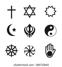 Religion Icons set