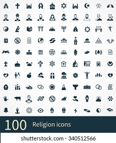 religion Icons Vector set.