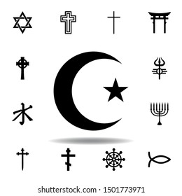 religion symbol, Islam icon. Element of religion symbol illustration. Signs and symbols icon can be used for web, logo, mobile app, UI, UX