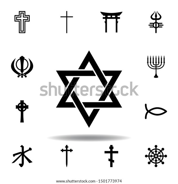 religion symbol, Judaism icon. Element of religion symbol illustration. Signs and symbols icon can be used for web, logo, mobile app, UI, UX