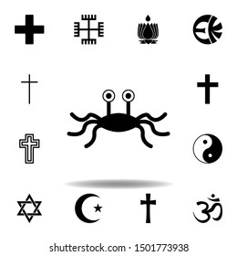 religion symbol, Rastafarianism icon. Element of religion symbol illustration. Signs and symbols icon can be used for web, logo, mobile app, UI, UX