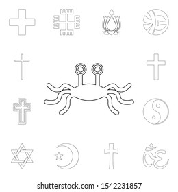 religion symbol, rastafarianism outline icon. element of religion symbol illustration. signs and symbols icon can be used for web, logo, mobile app, ui, ux