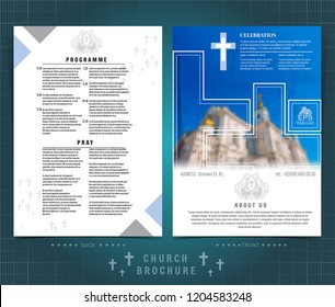 two sided brochure flayer template design stock vector royalty free