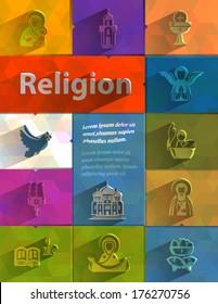 Religion. Vector format