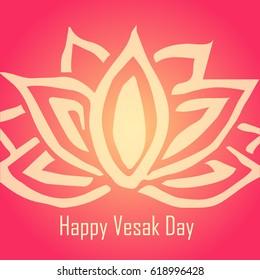 Religion. Vesak day celebration. Colorful unique design for greeting card, invitation, web, banner, poster, ticket, flyer, template, booklet, leaflet, brochure.