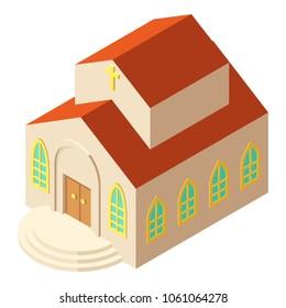 Religious church icon. Isometric illustration of religious church vector icon for web