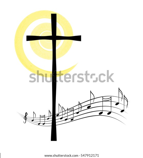 Religious Church Music Hymn Book Graphic Stock Vector (Royalty Free