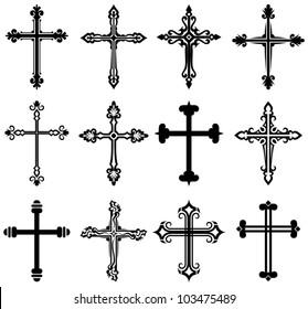 Religiöse Cross-Design-Kollektion
