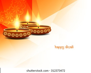 Religious happy diwali vector background design.