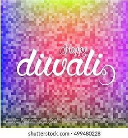 Religious happy diwali vector background design. Happy Diwali.
