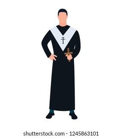 Religious person, priest flat icon design